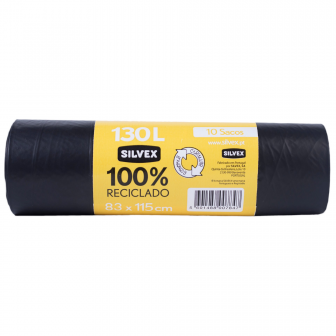 100 % recycled garbage bags 130L (10 units)