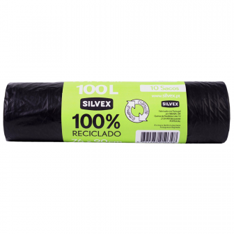 SACOS LIXO 100% RECICLADO 100L (10 UNI)