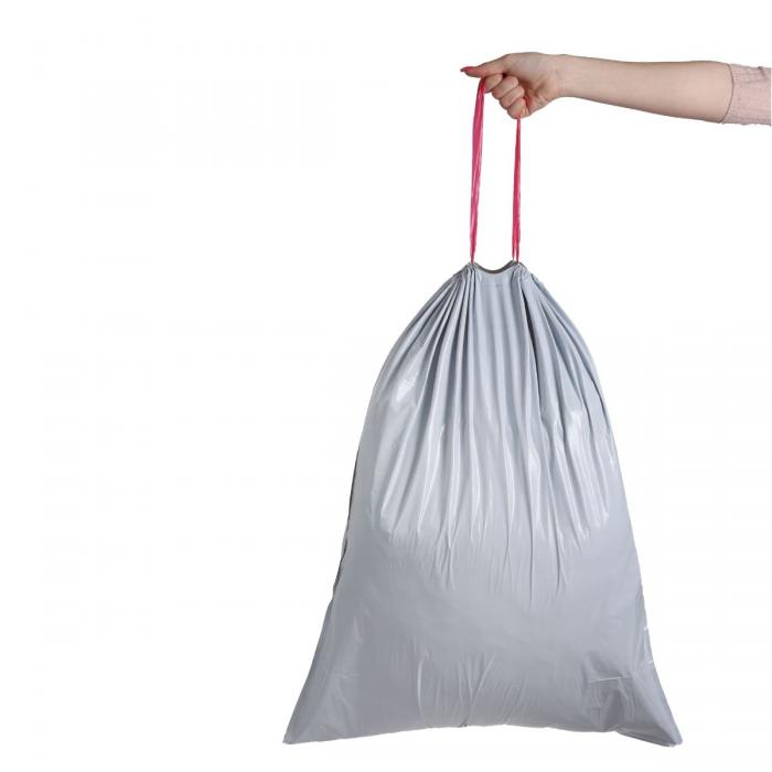 Bolsas de basura con cierre fácil 100L (10 unidades)