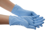 Blue nitrile gloves, Size M (100 units)