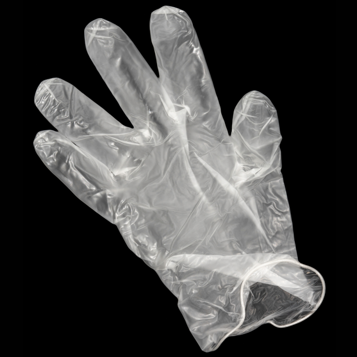 Transparent Vinyl Gloves M (100 PCS)