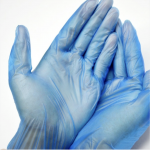 BLUE VINYL GLOVES L (100 UNI)