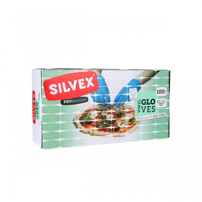 POWDER FREE Blue Vinyl Gloves M (100 PCS)