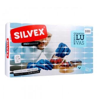 Luvas Descartáveis em Nitrilo Azul L (100 UNI)
