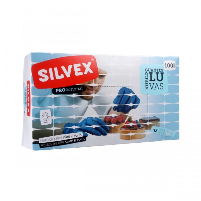 Luvas Descartáveis em Nitrilo Azul M (100 UNI)
