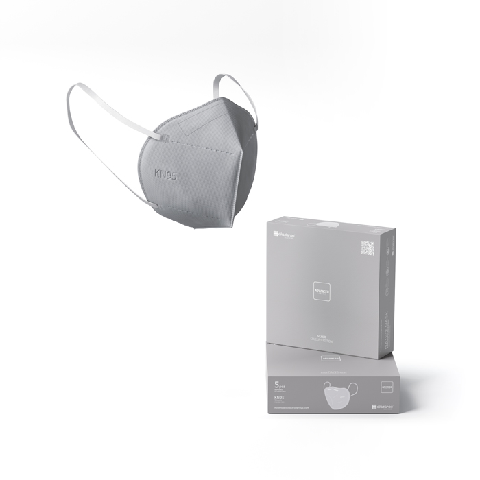 KN95 Matrix Disposable Protection Face Masks Silver (5 PCS)