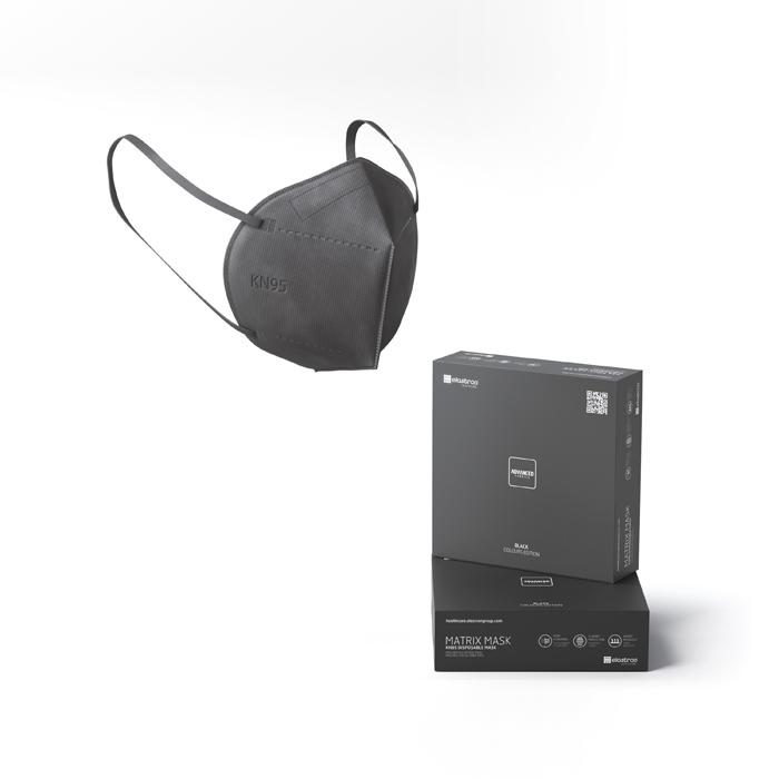 KN95 Matrix Disposable Protection Face Masks Black (5 PCS)