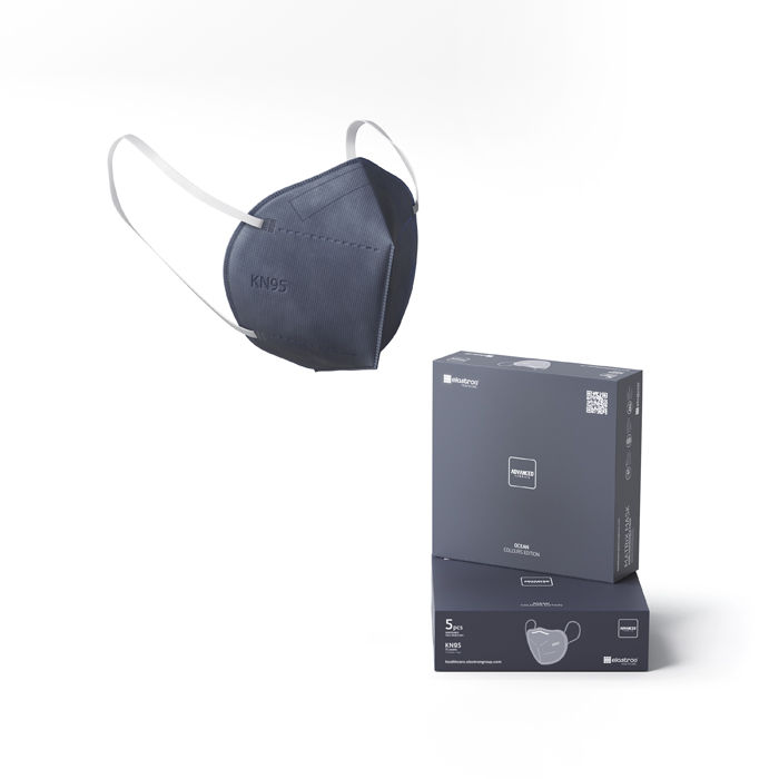 KN95 Matrix Disposable Protection Face Masks Ocean (5 PCS)