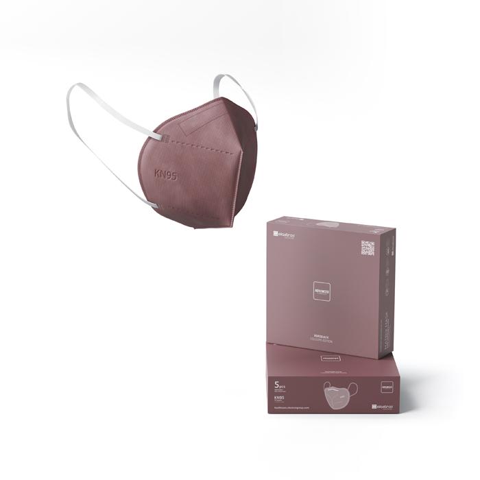 KN95 Matrix Disposable Protection Face Masks Bordeaux (5 PCS)