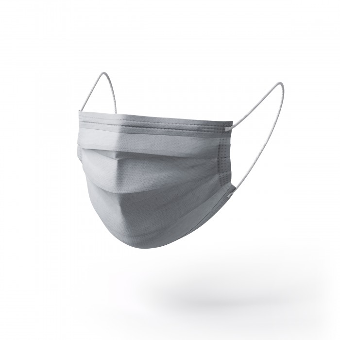 Freedom Disposable Three-Layer Protection Face Masks Silver (10 PCS)