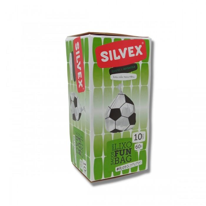 Sacos de Lixo Funbag Bola Futebol 60L (10 UNI)