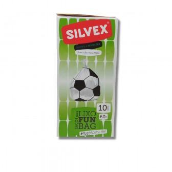 Funbag Soccer Ball Garbage Bags 60L (10 UNI)Garbage Bags with Football Design (10 UNI)